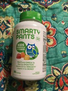 SmartyPants Kids Multivitamin & Omega 3 Gummies w/ Fiber  90 ct exp 6/21