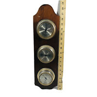 Vintage Taylor Weather Station Barometer Thermometer Humidity Wood Wall Decor