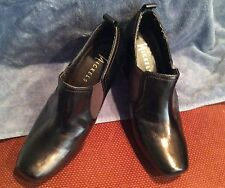 Nickels Dark Brown Slip On Pumps Sz 7-1/2M NWOB