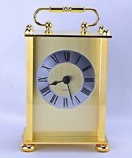 New!  Traditional Quartz Gold Carriage Table/ Desk Clock-FC-576