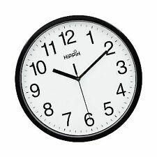"Hippih 10"" Silent Quartz Decorative Wall Clock Non-ticking Digital Black"