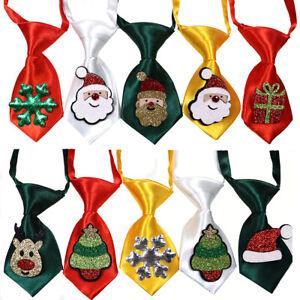 Christmas Pet Dog Small Neck Ties Adjustable Dog Solid Ties for Small&Medium Dog