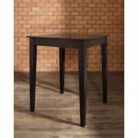 Modern High Table Wood Kitchen Dining Pub Game Room Contemporary Furniture Black