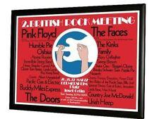 """23"""" x 16"""" 1972 Rock Festival Concert Poster Kinks Doors"""
