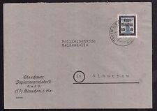 Lokalausgabe Glauchau Mi.Nr. 22 gestempelt Brief geprüft BPP (7554)