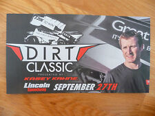 Kasey Kahne Dirt Classic At Lincoln Speedway 6 X 11 Photo Card