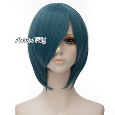 Short Gray Blue Straight Unisex Puella Magi Miki Sayaka Anime Cosplay Wig