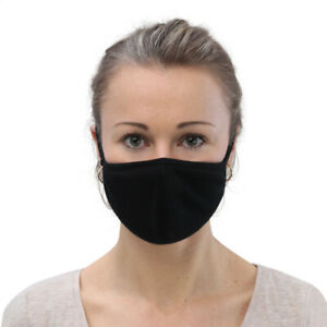 New Face Masks 3 Pack Black 2 Sizes Medium And Small Washable Reusable