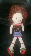 """Groovy Girls Girl  Courageous Doll Plush 13"""" Brunette Red highlights Cherry Top"""