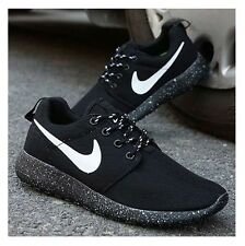 nike roshe run black and silver womens sport watch