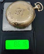 Solid Gold Runs 86 grams #14-12 Antique 16S Elgin Pocket Watch 14K