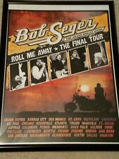Bob Seger THE LAST Tour Poster Original with cities SOLDOUT at the shows rare