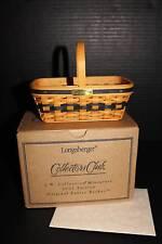 Longaberger - Collector Club JW Mini Easter Basket NEW