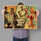 GTA 5 Game Poster Canvas Gamer Room Home Bedroom Deco Wall Art Picture Gift Kids