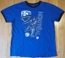 MONTREAL IMPACT shirt XL blue MLS soccer jersey football ringer Piatti Oduro