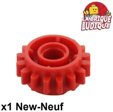 Lego technic - 1x engrenage pignon gear 16 tooth clutch rouge/red 18946 NEUF