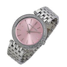 100% New Michael Kors 39mm Darci Silver with Fuchsia Face Women's Watch MK3352