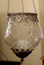 Large  Moroccan Style  Hanging Tea light Candle Holder   (  Silver )  BRAND NEW
