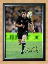 Dan Carter Zealand Rugby All Blacks Autographed Signed A4 Photo Poster Print
