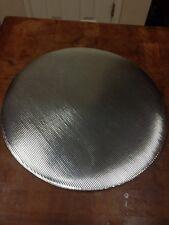Silver tone round vinyl place-mat set of 12