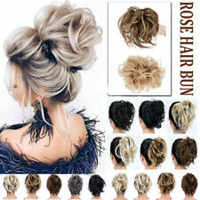 Large Thick Messy Bun Ponytail Scrunchie Hair Extensions Real As Human Hairpiece