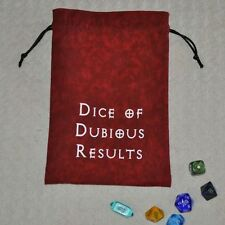 D&D Dungeons & Dragons game DICE of DUBIOUS RESULTS handmade drawstring bag
