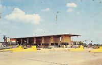 Hammond Indiana~Beginning of Northern Toll Road~1950s Cars~Postcard