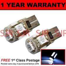 W5W T10 501 Canbus Nessun Errore Bianco 5 LED INTERNO CORTESIA LAMPADINE x 2