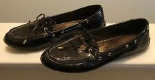 Sperry Dark Brown Patent Leather w/ Embossed Alligator Pattern Loafers 8 1/2 M