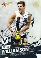 ✺Signed✺ 2016 CARLTON BLUES AFL Card TOM WILLIAMSON Future Force