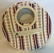 Fossil Designer Round Satchel Purse Bag Polkadots and Strips