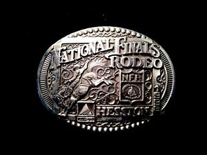 National Finals Rodeo Hesston 1998 NFR Adult Cowboy Buckle, Vintage
