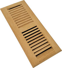 Homewell Red Oak Floor Register, Drop In Vent With Damper, 4x12 Inch, Unfinished