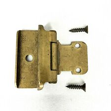 "1 Amerock 7541 Cabinet Door Hinge Bright Brass Self Close Wrap Frame 1//2/"" O/'lay"