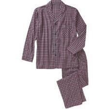 """Pajamas mens size S new 55% cotton 45% polyester plaid woven chest 34-36"""" Hanes"""