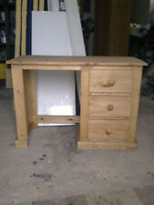 PINE FURNITURE AYLESBURY SINGLE PEDISTAL DRESSING TABLE