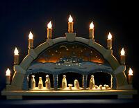 3D-Schwibbogen 66cm Christi Geburt mit Krippe Erzgebirge Lichterbogen Fachhandel