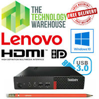 Lenovo Thinkcentre M910Q Tiny PC -Micro PC with 6th Gen CPU + SSD +HDMI & Win 10