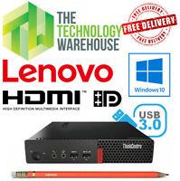 Lenovo Thinkcentre M910Q Tiny PC -Micro PC with 6th Gen CPU + SSD +HDMI & Win 10
