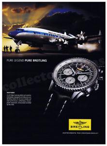 BREITLING Navitimer men's watch advertisement A4 print - NO WATCH
