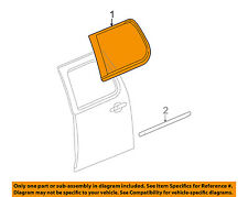 Cadillac GM OEM 07-14 Escalade ESV Exterior-Rear-Reveal Molding Left 23134805