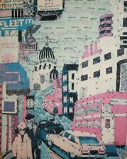 VINTAGE ABSTRACT CITYSCAPE PRINT SIGNED