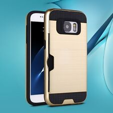 Heavy Duty Shock Proof Card Slot Case Cover For Samsung Galaxy S7 S7 Edge