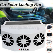 Solar Powered Car Air Vent Cool Fan Auto Cooler Portable Exhaust Conditioner
