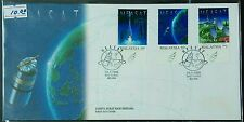 1996 Malaysia Satellite MEASAT 3v Stamps FDC (Melaka) minor toned (Offer Lot F)