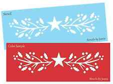 Joanie STENCIL Holly Primitive Twig Berry Star Country Vine Winter Cabin Sign