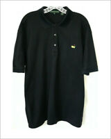 Augusta National Masters mens polo golf shirt XL black anded sleeve pima cotton