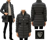 Women's Emporio Armani EA7 Padded Puffer Quilted Winter Warm Jacket Design Coat