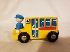 Genuine BRIO wooden railway school bus Very Good condition  #336313
