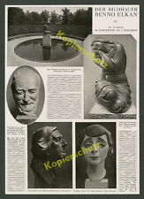 Benno Elkan Dortmund sculptor 50. Birthday Sculptures VOLKLINGEN Judaism 1927